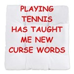 i love tennis Tufted Chair Cushion
