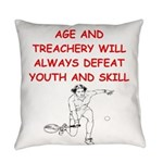 i love tennis Everyday Pillow