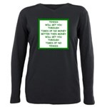 tennis Plus Size Long Sleeve Tee