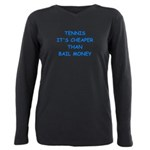 tennis Plus Size Long Sleeve Tee