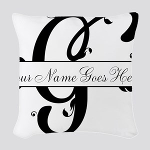 Monogram G Woven Throw Pillow