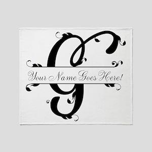 Monogram G Throw Blanket