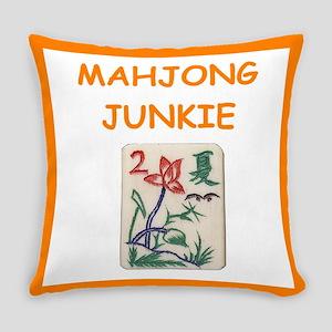 mahjong joke Everyday Pillow