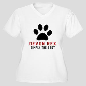 Devon Rex Simply Women's Plus Size V-Neck T-Shirt