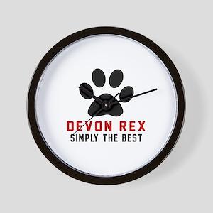 Devon Rex Simply The Best Cat Designs Wall Clock