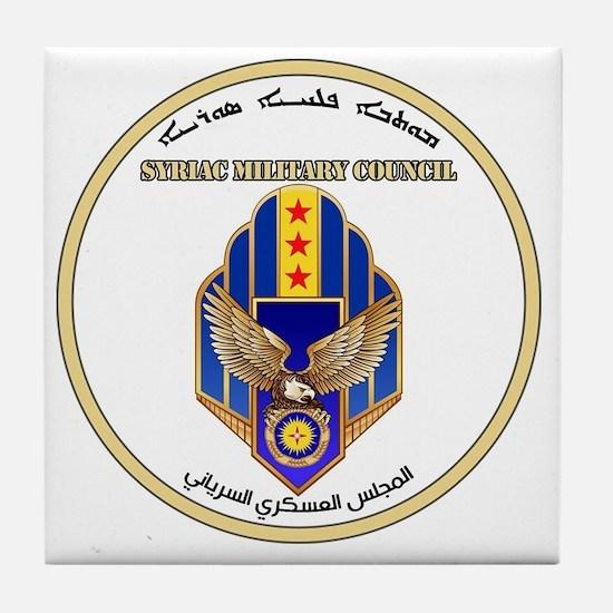 Syriac Military Council (MFS) Logo Tile Coaster