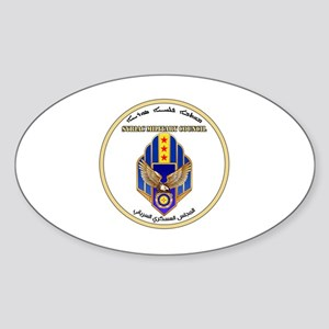 Syriac Military Council (MFS) Logo Sticker (Oval)