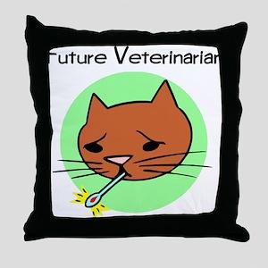 Future Veterinarian - Sick Ki Throw Pillow