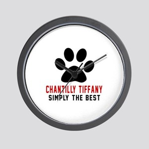 Chantilly Tiffany Simply The Best Cat D Wall Clock