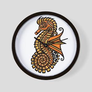 Steampunk Seahorse Wall Clock