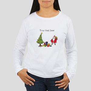 Personalized Holiday Santa Long Sleeve T-Shirt