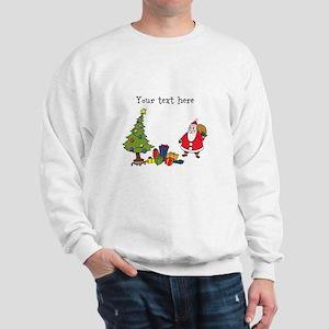 Personalized Holiday Santa Sweatshirt