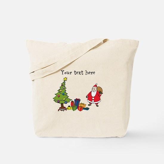 Personalized Holiday Santa Tote Bag