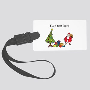 Personalized Holiday Santa Luggage Tag