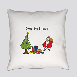 Personalized Holiday Santa Everyday Pillow
