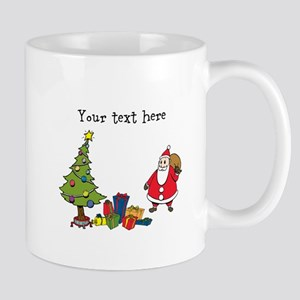 Personalized Holiday Santa Mugs