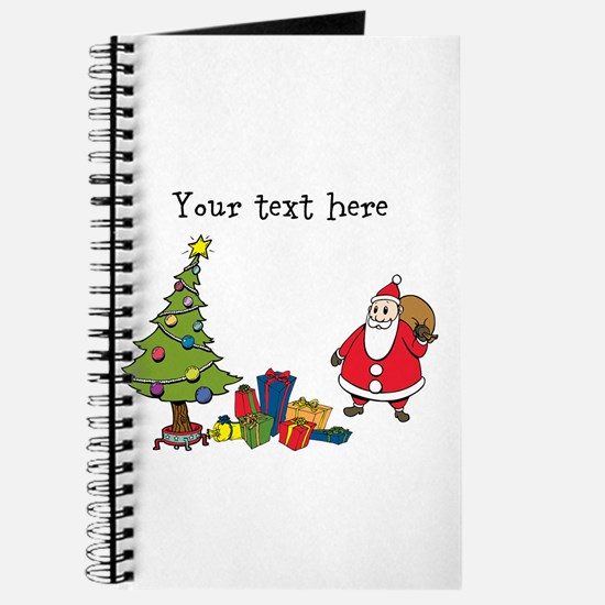 Personalized Holiday Santa Journal
