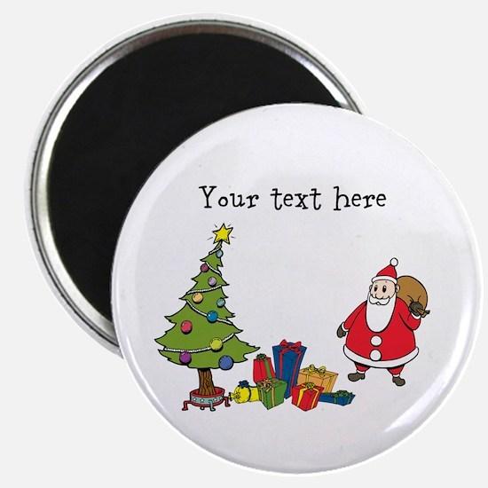 Personalized Holiday Santa Magnets