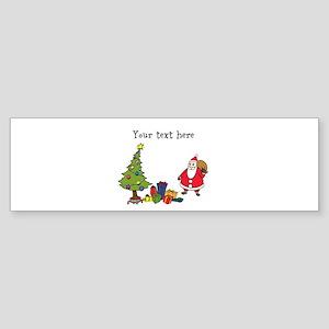 Personalized Holiday Santa Bumper Sticker