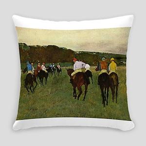 degas horse racing art Everyday Pillow