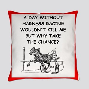 harness racing Everyday Pillow