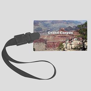 Grand Canyon South Rim 4 (captio Large Luggage Tag