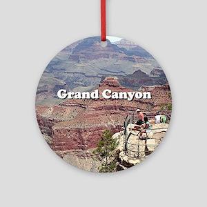 Grand Canyon South Rim 4 (caption) Round Ornament
