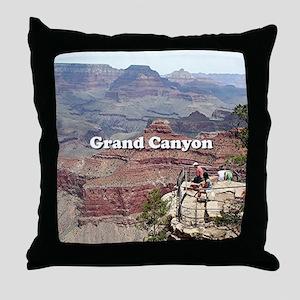 Grand Canyon South Rim 4 (caption) Throw Pillow