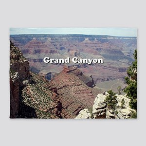 Grand Canyon South Rim 3 (caption) 5'x7'Area Rug