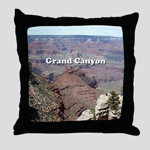 Grand Canyon South Rim 3 (caption) Throw Pillow
