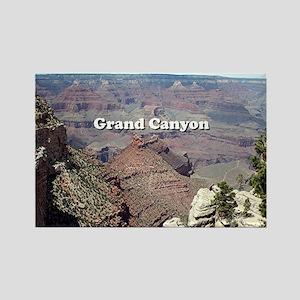 Grand Canyon South Rim 3 (caption Rectangle Magnet