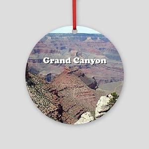 Grand Canyon South Rim 3 (caption) Round Ornament