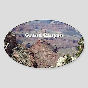 Grand Canyon South Rim 3 (caption) Sticker (Oval)