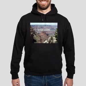 Grand Canyon South Rim 3 (caption) Hoodie (dark)