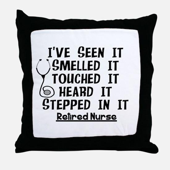 Nurse Retirement Quotes Throw Pillow