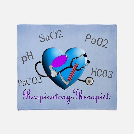 Respiratory Therapist Blanket Throw Blanket