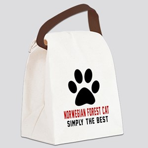 Norwegian Forest Cat Simply The B Canvas Lunch Bag