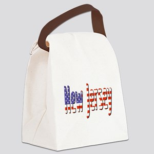 Patriotic New Jersey Canvas Lunch Bag