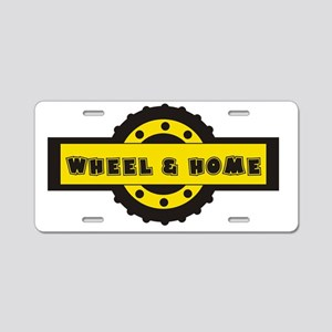 Wheel and home Aluminum License Plate