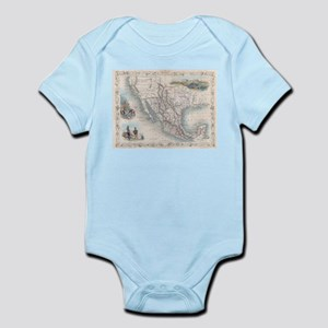 Vintage Map of Mexico (1851) Body Suit