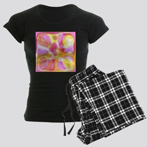 Pink Bubble Pattern Women's Dark Pajamas