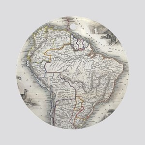 Vintage Map of South America (1850) Round Ornament