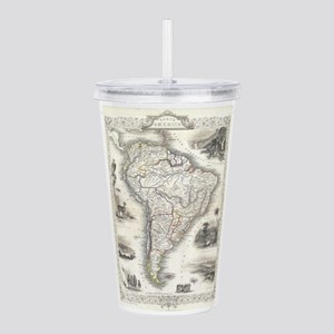 Vintage Map of South A Acrylic Double-wall Tumbler