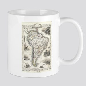 Vintage Map of South America (1850) Mugs