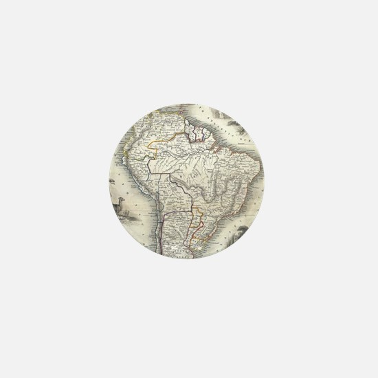 Vintage Map of South America (1850) Mini Button