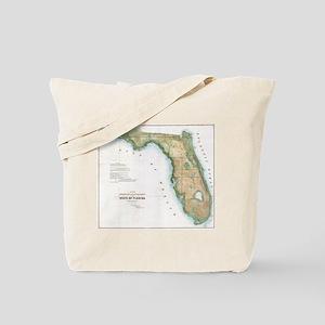 Vintage Map of Florida (1848) Tote Bag