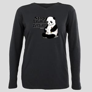 stop_animal_testing.png Plus Size Long Sleeve Tee