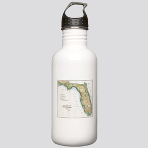 Vintage Map of Florida Stainless Water Bottle 1.0L