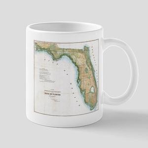 Vintage Map of Florida (1848) Mugs