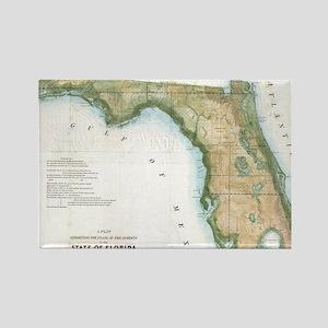 Vintage Map of Florida (1848) Magnets